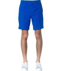 dondup royal blue manheim cotton shorts