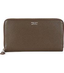 leather zip-around long wallet