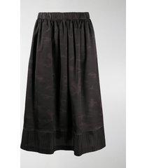 black comme des garçons concealed long shorts