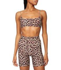 weworewhat women's chain leopard bike shorts - beige - size xs