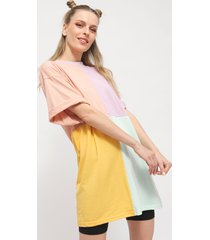 vestido missguided oversized tshirt dress ss col multicolor - calce oversize
