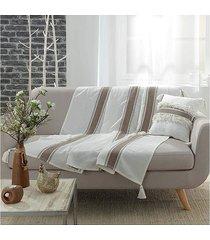 koc pled narzuta dekoracyjna stripes 150x125 cm