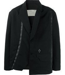 a-cold-wall* boxy fit press stud blazer - black