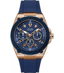 reloj guess legacy - azul marino