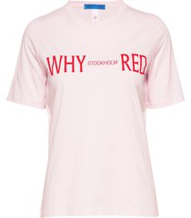 paro print t-shirts & tops short-sleeved rosa whyred