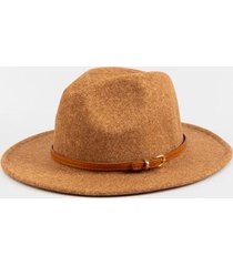 claudia heathered wool panama hat - camel
