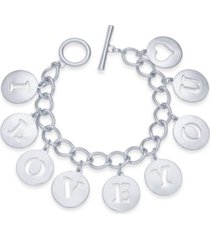 holiday lane i love you charm bracelet, created for macy's