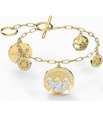 braccialetto shine coins, multicolore chiaro, placcato color oro