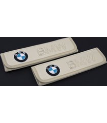 bmw leather seat belt covers pads emblem embroidery interior bmw accessories