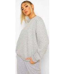 basic oversized sweater, grey marl