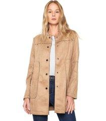 casaco sobretudo facinelli by mooncity bolsos bege - kanui