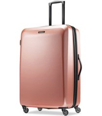 "american tourister moonlight 28"" expandable hardside spinner suitcase"