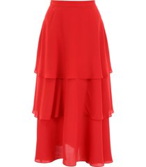 stella mccartney silk midi skirt