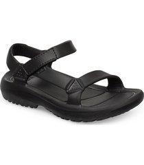 w hurricane drift shoes summer shoes flat sandals svart teva