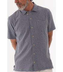 oliver spencer hawaiian jersey shirt - arman blue osmk468-arm01blu