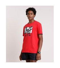 camiseta masculina carnaval duff beer os simpsons manga curta gola careca vermelha