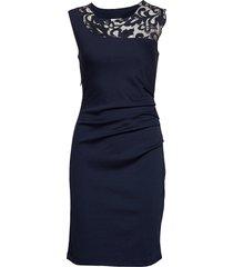 india vivi dress knälång klänning blå kaffe