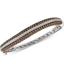 le vian red carpet diamond bangle bracelet (6-3/8 ct. t.w.) in 14k white gold