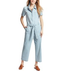 ella moss belted denim jumpsuit