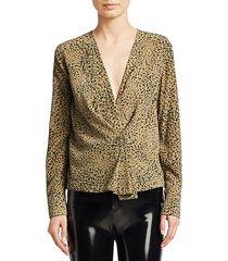 shields leopard print blouse