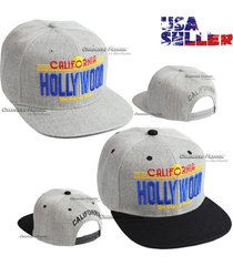 baseball snapback cap hollywood california hat the golden sates embroidery flat