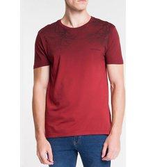 camiseta ckj mc florest degrade - vermelho escuro - g