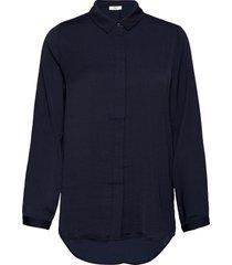 blair polysilk shirt långärmad skjorta blå moss copenhagen
