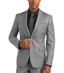 joe joseph abboud light gray extreme slim fit suit