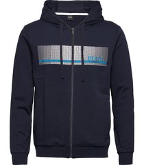authentic jacket h hoodie blå boss