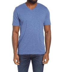 men's 1901 v-neck t-shirt, size small - blue