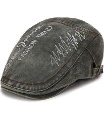 cappellino beret traspirante regolabile modello vintage autografato in cotone estivo da uomo