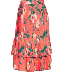 anabelle skirt knälång kjol röd by malina