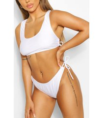 mix & match tie detail bikini brief, white