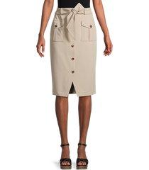 tommy hilfiger women's tie-front woven skirt - khaki - size 6