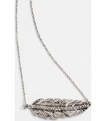 maurices womens silver sideways feather necklace