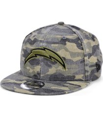 new era men's los angeles chargers worn camo 9fifty cap