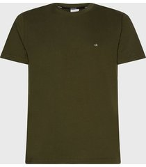 polera calvin klein cotton logo embroidery t-shirt verde - calce regular