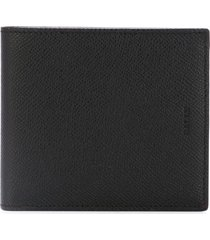 bally textured billfold wallet - black