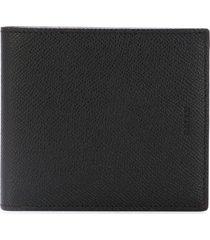 bally textured billfold wallet - black