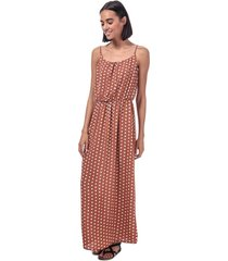 only nova lux polka dot maxi dress size 8 in brown