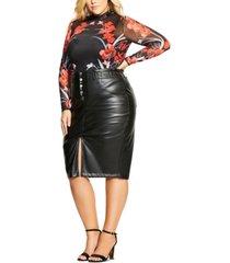 city chic trendy plus size iris bodysuit