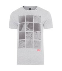 camiseta masculina road travel - cinza