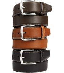 cole haan burnished edge leather belt