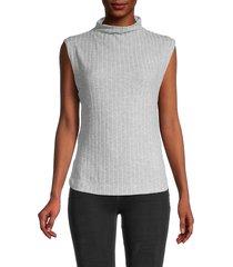 free people women's babetown ribbed sleeveless top - grey - size xs