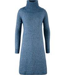abito in maglia svasato con martingala (blu) - bpc bonprix collection