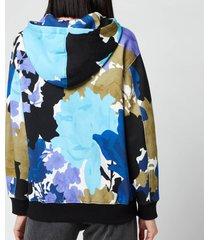 stine goya women's adrisa hoodie - rose garden blue - l