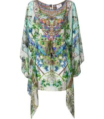 camilla moon garden kaftan dress - multicolour