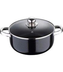 caçarola bergner pixel pro chef sauce antiaderente alumínio prensado com indução 28cm preta