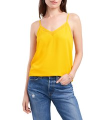 1.state chiffon inset tank, size x-small in sunflower yellow at nordstrom