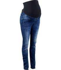 jeans prémaman in look sdrucito skinny (blu) - bpc bonprix collection